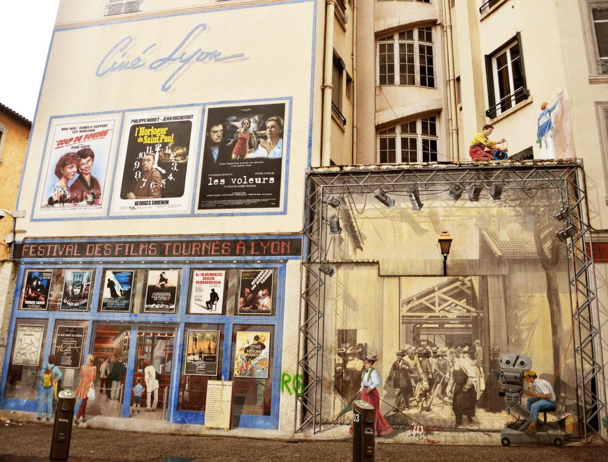 Fresque du cinéma de Lyon