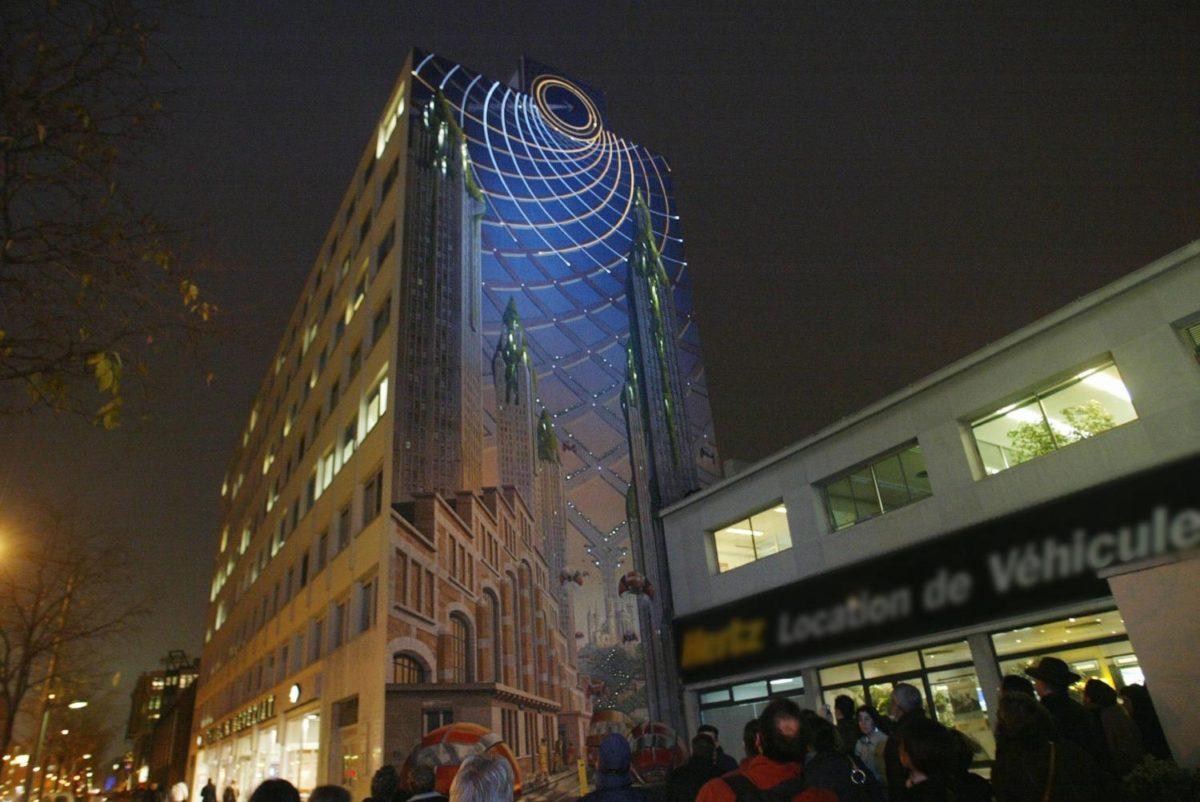 Fresque Lumière : Lyon en 2046