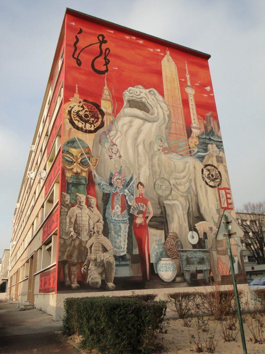 Fresques de Shanghai à Lyon